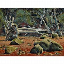 ALEXANDER COLVILLE, R.C.A., FOREST AND BEACH, oil on masonite, 15 ins x 20 ins; 38.1 cms x 50.8 cms