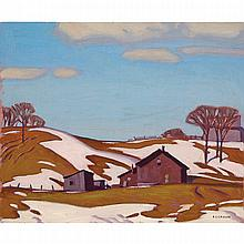 ALFRED JOSEPH CASSON, O.S.A., P.R.C.A., MARCH - VANDORF, 1946, oil on canvas, laid down on board, 9.5 ins x 11.25 ins; 24.1 cms x 28.6 cms
