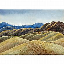 CARL FELLMAN SCHAEFER, R.C.A., LATE AFTERNOON, AUTUMN CALEDON, 1935, watercolour, 15.5 ins x 22 ins; 39.4 cms x 55.9 cms