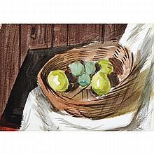 JACK HAMILTON BUSH, O.S.A., A.R.C.A., STILL-LIFE, 1950, watercolour, 10.25 ins x 14.5 ins; 26 cms x 36.8 cms