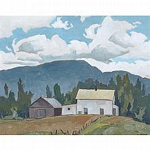 ALFRED JOSEPH CASSON, O.S.A., P.R.C.A., THE FARMHOUSE, 1978, oil on board, 12 ins x 15 ins; 30.5 cms x 38.1 cms
