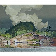 ALFRED JOSEPH CASSON, O.S.A., P.R.C.A., WEATHER CHANGE, 1967, oil on masonite, 20 ins x 24 ins; 50.8 cms x 61 cms