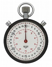 A SPLIT SECONDS HEUER POCKET WATCH TIMER WITH
