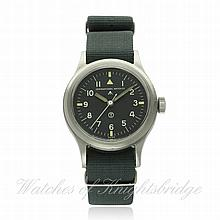 A GENTLEMAN'S STAINLESS STEEL BRITISH MILITARY R.A