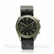 A GENTLEMAN'S STAINLESS STEEL BRITISH MILITARY CWC