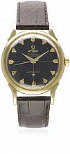 A GENTLEMAN'S 14K SOLID GOLD OMEGA CONSTELLATION CHRONOMETER WRIST WATCH CI