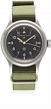 A GENTLEMAN'S STAINLESS STEEL BRITISH MILITARY R.A.F. IWC MARK 11 PILOT'S W