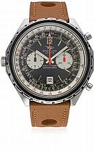 A GENTLEMAN'S STAINLESS STEEL BREITLING CHRONO MATIC NAVITIMER CHRONOGRAPH