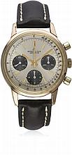 A GENTLEMAN'S PINK GOLD PLATED BREITLING ''LONG PLAYER'' CHRONOGRAPH WRIST