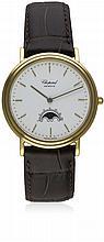 A GENTLEMAN'S 18K SOLID GOLD CHOPARD LVNA D'ORO WATCH CIRCA 1990, REF. 1121