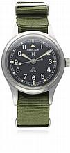 A GENTLEMAN'S STAINLESS STEEL KENYAN ARMY HAMILTON GENERAL SERVICE TROPICAL