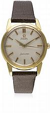 A GENTLEMAN'S 18K SOLID GOLD OMEGA SEAMASTER AUTOMATIC WRIST WATCH CIRCA 19