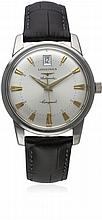 A GENTLEMAN'S STAINLESS STEEL LONGINES HERITAGE CONQUEST AUTOMATIC WRIST WA
