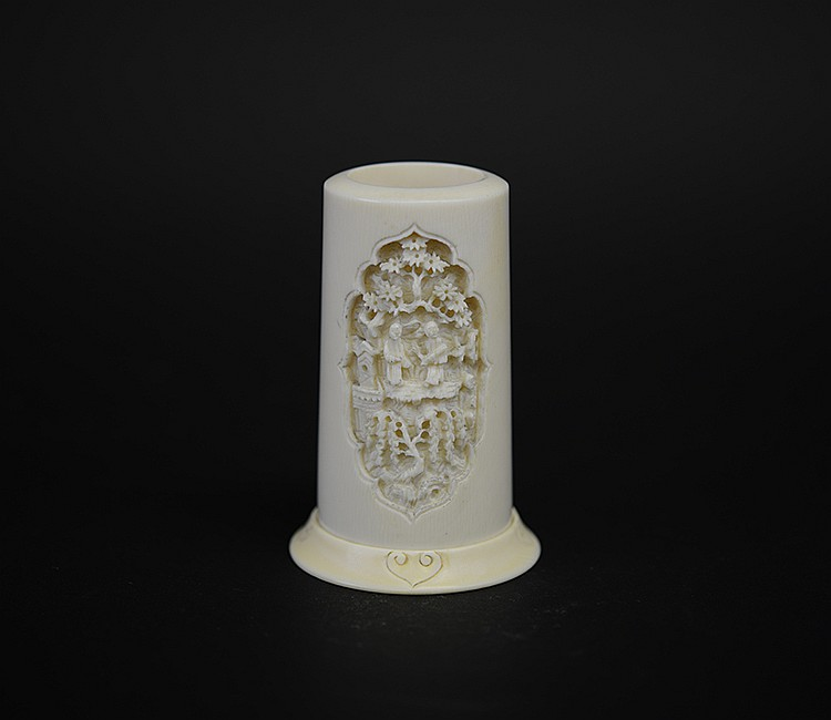 19th Century Chinese Ivory Brush Pot