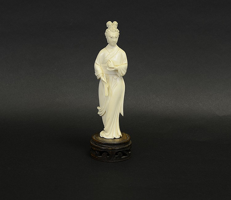 19th Century Chinese Ivory Female Figure