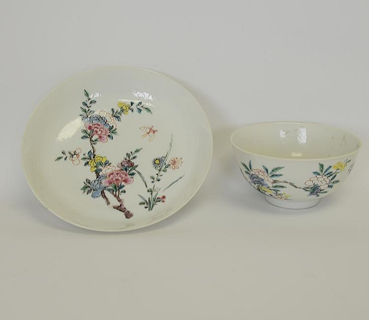 Yongzheng Mark & Period Porcelain Plate and Bowl