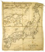 A Map of Japan Printed on Fabric