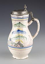 A Hand-Painted Ceramic Beer Stein