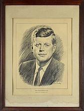 A Portrait of President John F. Kennedy