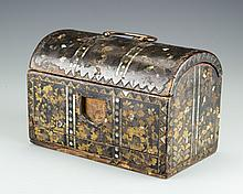 A Japanese Lacquer and Mother of Pearl Chest