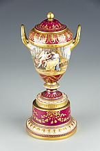 A Royal Vienna Style Porcelain Urn