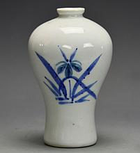 A Small Korean Porcelain Mei Ping Vase