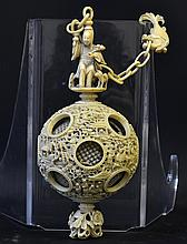 A 19th Century Chinese Ivory Puzzle Ball