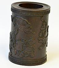 A Chinese Rosewood Brush Pot, Bitong