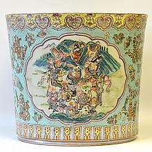 A 20th Century Chinese Enameled Jardiniere