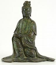 19th C. Chinese Bronze Statue of Guanyin