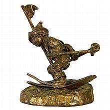 A Drury Studio Bronze Skier