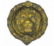 19th C. Continental Lion's Head Door Knocker