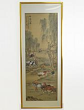 Chinese Painting of Eight Horses