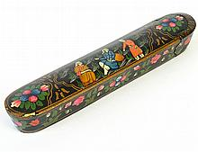 A Late 19th C. Middle Eastern Lacquered Pen Case