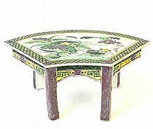 A Chinese Famille Verte Table Model, Kangxi