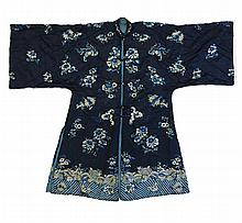 A Chinese Embroidered Silk Woman's Robe