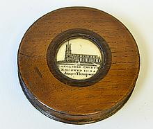An English Ivory and Wood Snuff Box