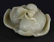 A Chinese Jade Model of Quails