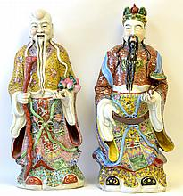 A Pair of Chinese Porcelain Buddha, Republic
