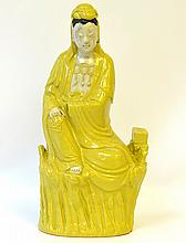 A Chinese Porcelain Statue of Guanyin, Republic