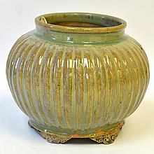 A Korean Celadon Glazed Jar