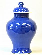 A Chinese Blue Glazed Ginger Jar