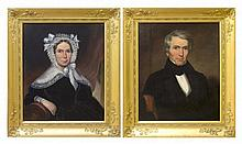 George Washington Conarroe (American, 1802-1882), Pair of Portraits of an Unidentified Man and Woman