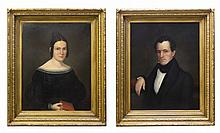A.B. Reid (?) (American), Pair of Portraits