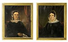 A Lot of Two Framed Oil Paintings of Women (American)