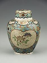 A Japanese Jiki-Shippo Covered Jar