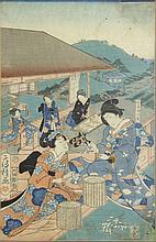 Utagawa Fusatane (act.1850-1870) Silk Production