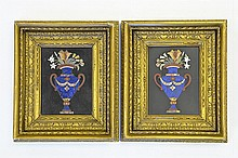 Pair of Early 19th Century Pietra Dura Plaques