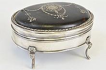 An English Silver and Tortoiseshell Box
