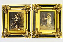 Francesco Vinea (1845-1902), Pair of Oil Paintings